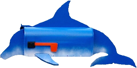 Dolphin Mailbox, Fish Mailboxes