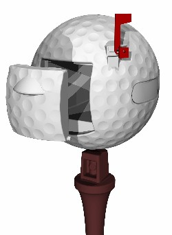 Golf Ball Mailbox, Golfball Mailbox