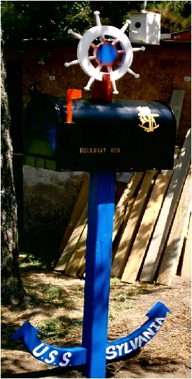 Navy Mailbox, Ship Wheel Mailbox